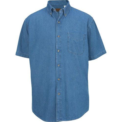 Men's Midweight Denim Short-Sleeve Shirt