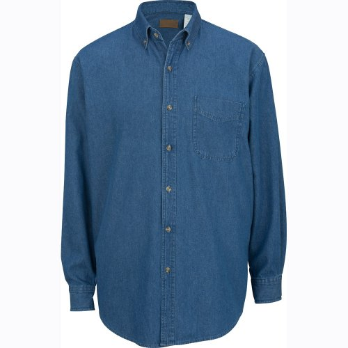 Men's Heavyweight Denim Long-Sleeve Shirt