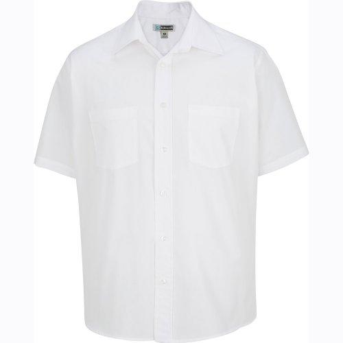 Men's Two-Pocket Broadcloth Short-Sleeve Shirt