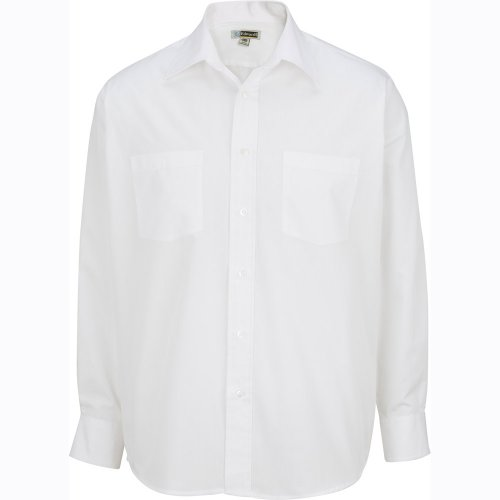 Men's Two-Pocket Broadcloth Long-Sleeve Shirt