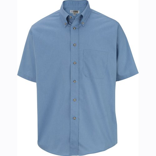 Men's Easy Care Poplin Short-Sleeve Shirt