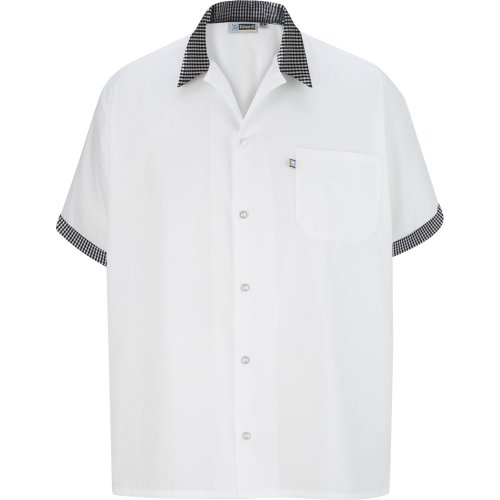 Button Front Shirt with Trim