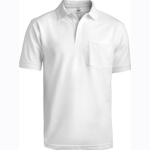 Blended Pique Short Sleeve Polo With Pocket