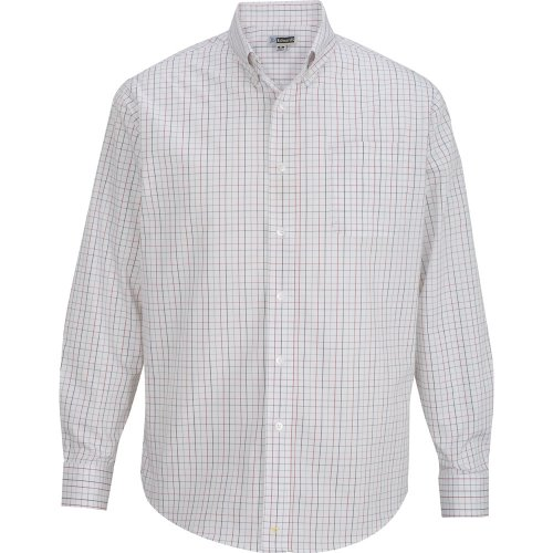 Men's Tattersall Poplin Long Sleeve Shirt