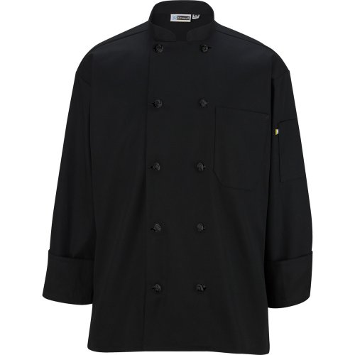 10 Knot Button Long Sleeve Chef Coat