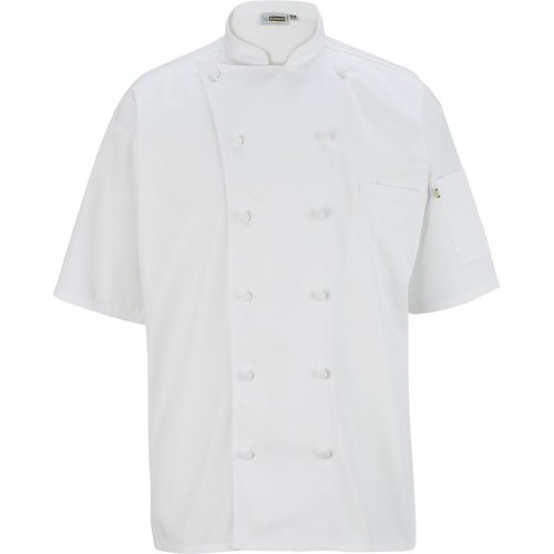 12 Button Short Sleeve Chef Coat with Mesh