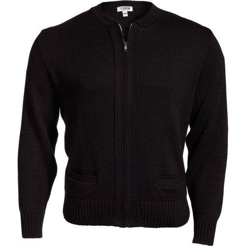 Full-Zip Acrylic Sweater