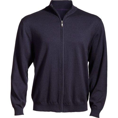 Full-Zip Fine Gauge Sweater