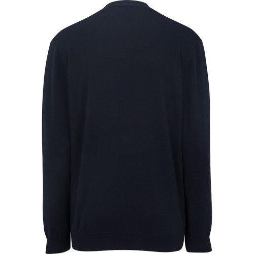 V-Neck Cotton Blend Cardigan-2 Pockets
