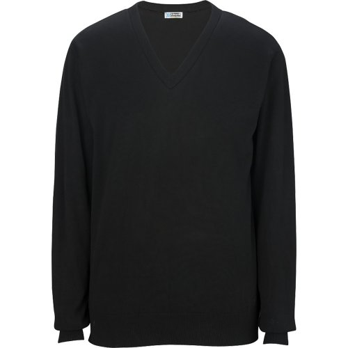 V-Neck Cotton Blend Sweater