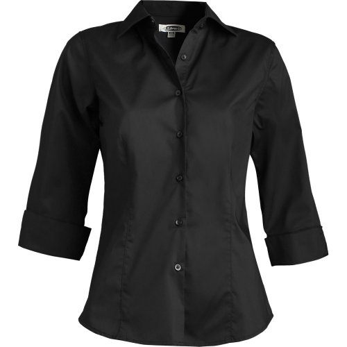 Ladies' Tailored Full-Placket Stretch Broadcloth Blouse