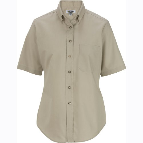 Ladies' Easy Care Poplin Short-Sleeve Shirt
