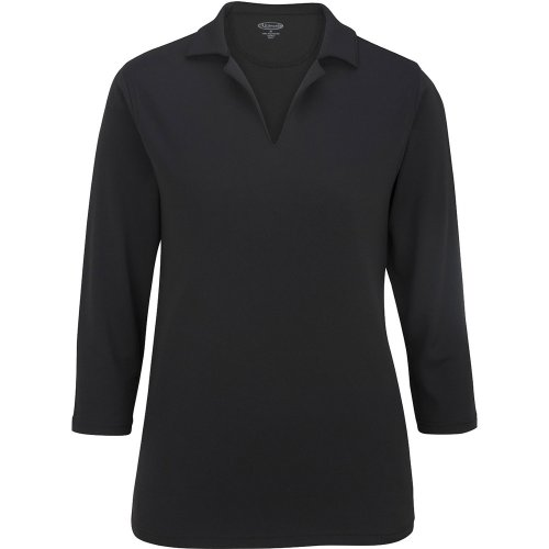 Ladies' Performance Flat-Knit 3/4 Sleeve Polo