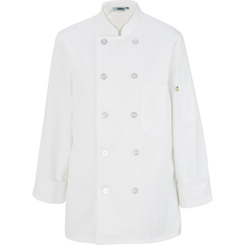 Ladies' 10 Button Long Sleeve Chef Coat
