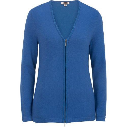 Ladies' Full Zip V-Neck Cardigan Sweater