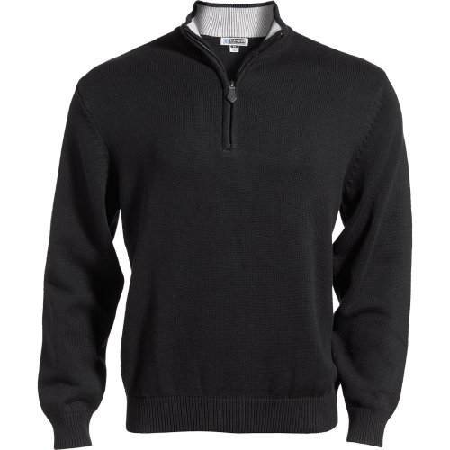 Quarter Zip Cotton Blend Sweater