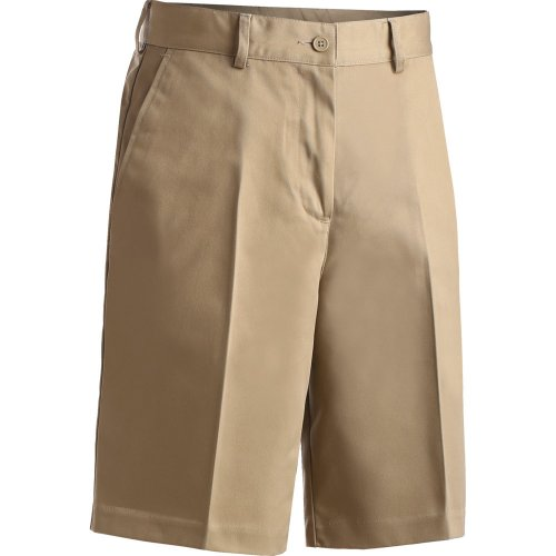 Ladies' Blended Flat-Front Chino Shorts