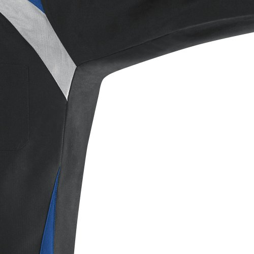 Tri-Color Long Sleeve Shop Shirt