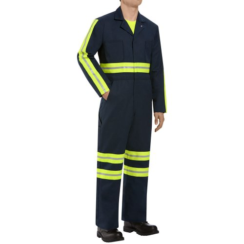 Enhanced Visibility Twill Action-Back Coverall