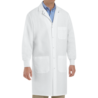National Uniforms Unisex Specialized Cuffed Lab Coat