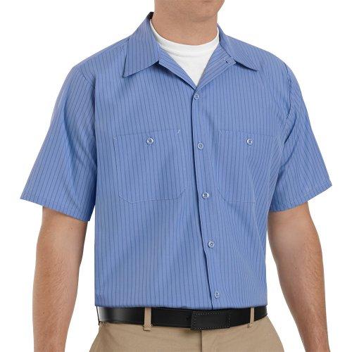 Industrial Stripe Broadcloth Short Sleeve Shirt