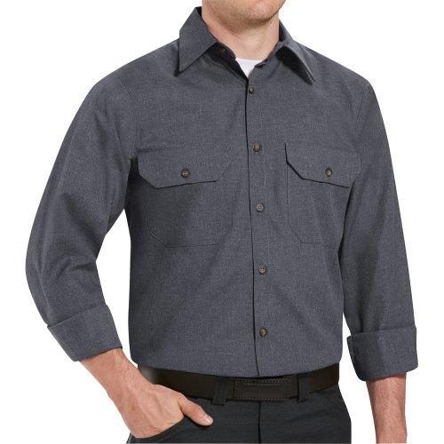 Red Kap Heathered Poplin Long Sleeve Shirt