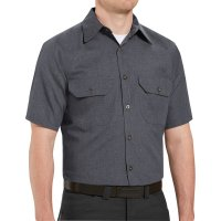 Heathered Poplin Short Sleeve Shirt