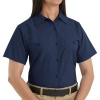 Women's Industrial Short Sleeve Work Shirt