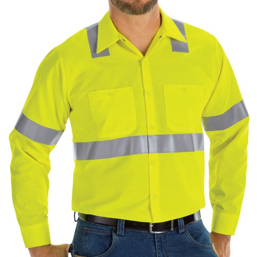 Hi-Visibility Ripstop Long Sleeve Work Shirt Type R, Class 2