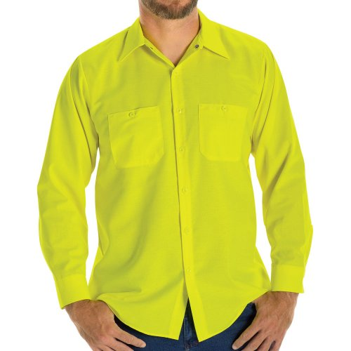 Enhanced Visibility Ripstop Long Sleeve Work Shirt