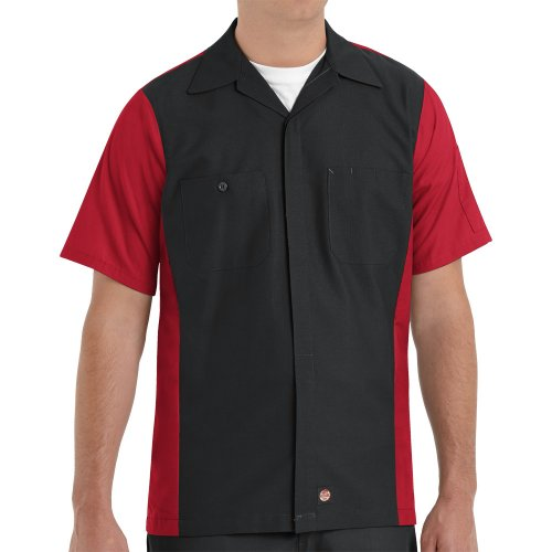 Two-Tone Short Sleeve Crew Shirt