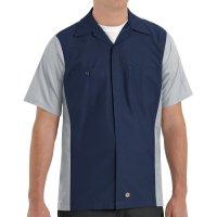 Two-Tone Short Sleeve Crew Shirt