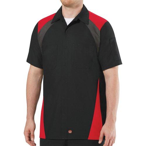 Tri-Color Short Sleeve Shop Shirt