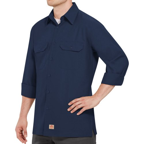 Solid Long Sleeve Ripstop Shirt