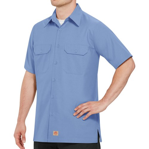 Solid Short Sleeve Ripstop Shirt
