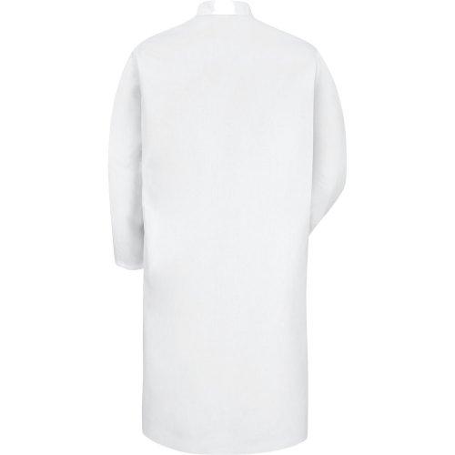 Gripper-Front Spun Polyester Butcher Coat
