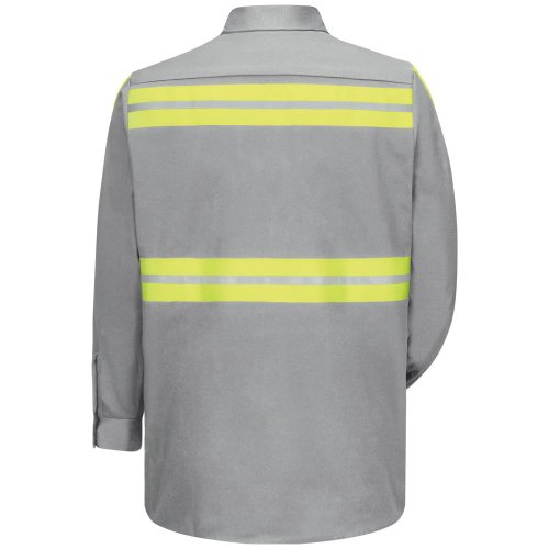 Enhanced Visibility Cotton Long Sleeve Work Shirt