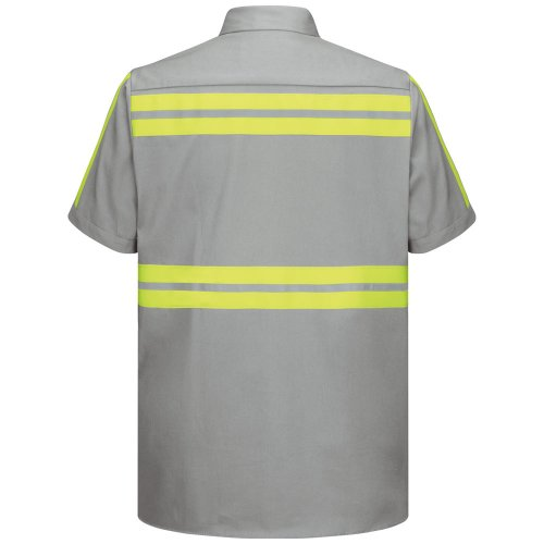 Enhanced Visibility Cotton Short Sleeve Work Shirt