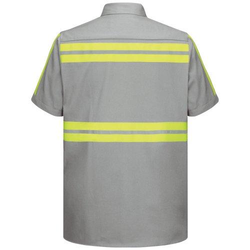 Red Kap Enhanced Visibility Cotton Short Sleeve Work Shirt
