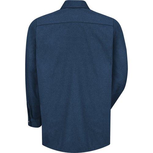 Heathered Poplin Long Sleeve Shirt