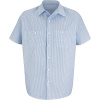 Industrial Stripe Oxford Short Sleeve Shirt