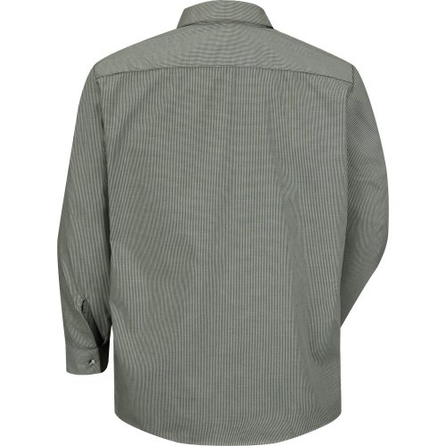 Micro-Check Long Sleeve Work Shirt