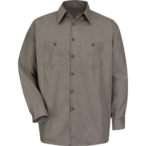 Micro-Check Long Sleeve Work Shirt