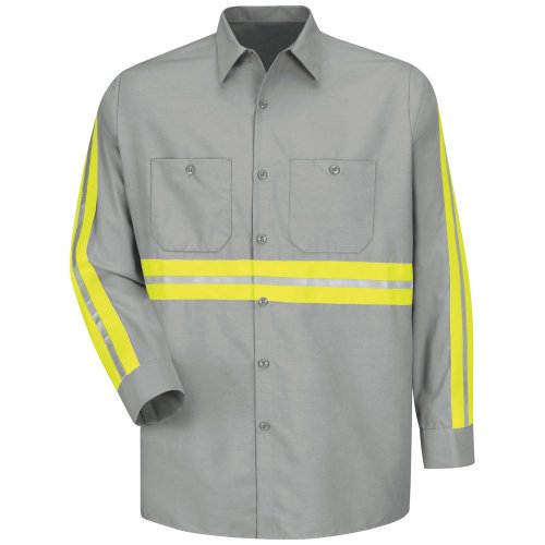 Enhanced Visibility Industrial Long Sleeve Work Shirt