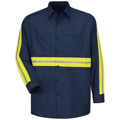 Enhanced Visibility Industrial Long Sleeve Work Shirt