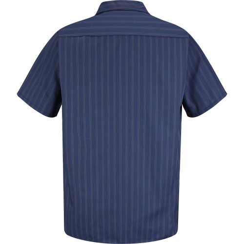Industrial Stripe Poplin Short Sleeve Shirt