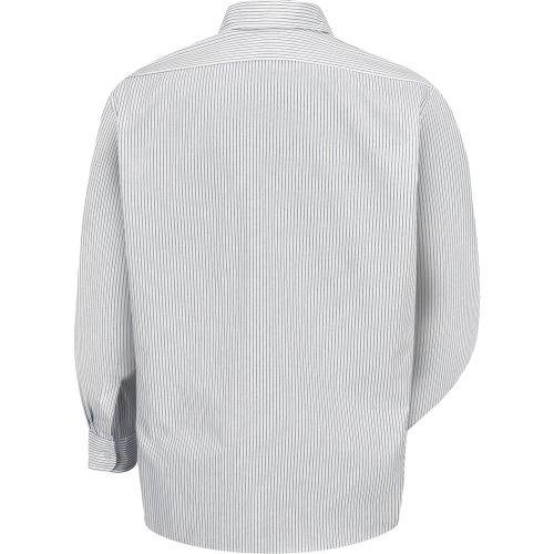 Men's Striped Long Sleeve Dress Uniform Shirt