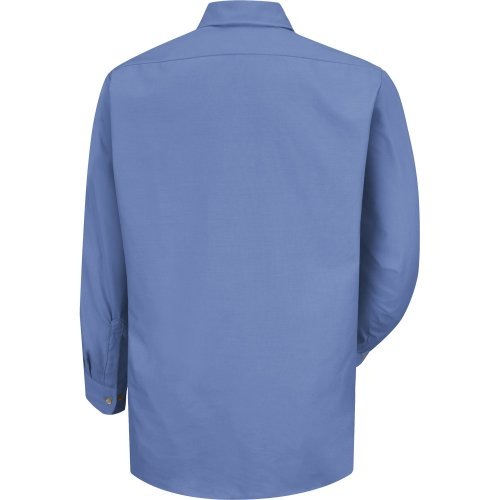 Men's Solid Long Sleeve Dress Uniform Shirt