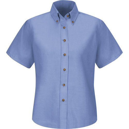 Women's Poplin Short Sleeve Dress Shirt
