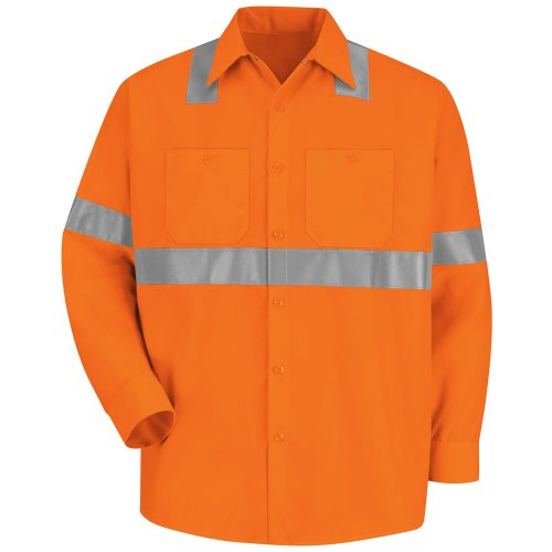 Hi-Visibility 100% Polyester Long Sleeve Work Shirt Type R, Class 2